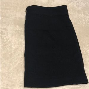 Banana Republic Skirts - Navy blue skirt with lining & sliver buttons.